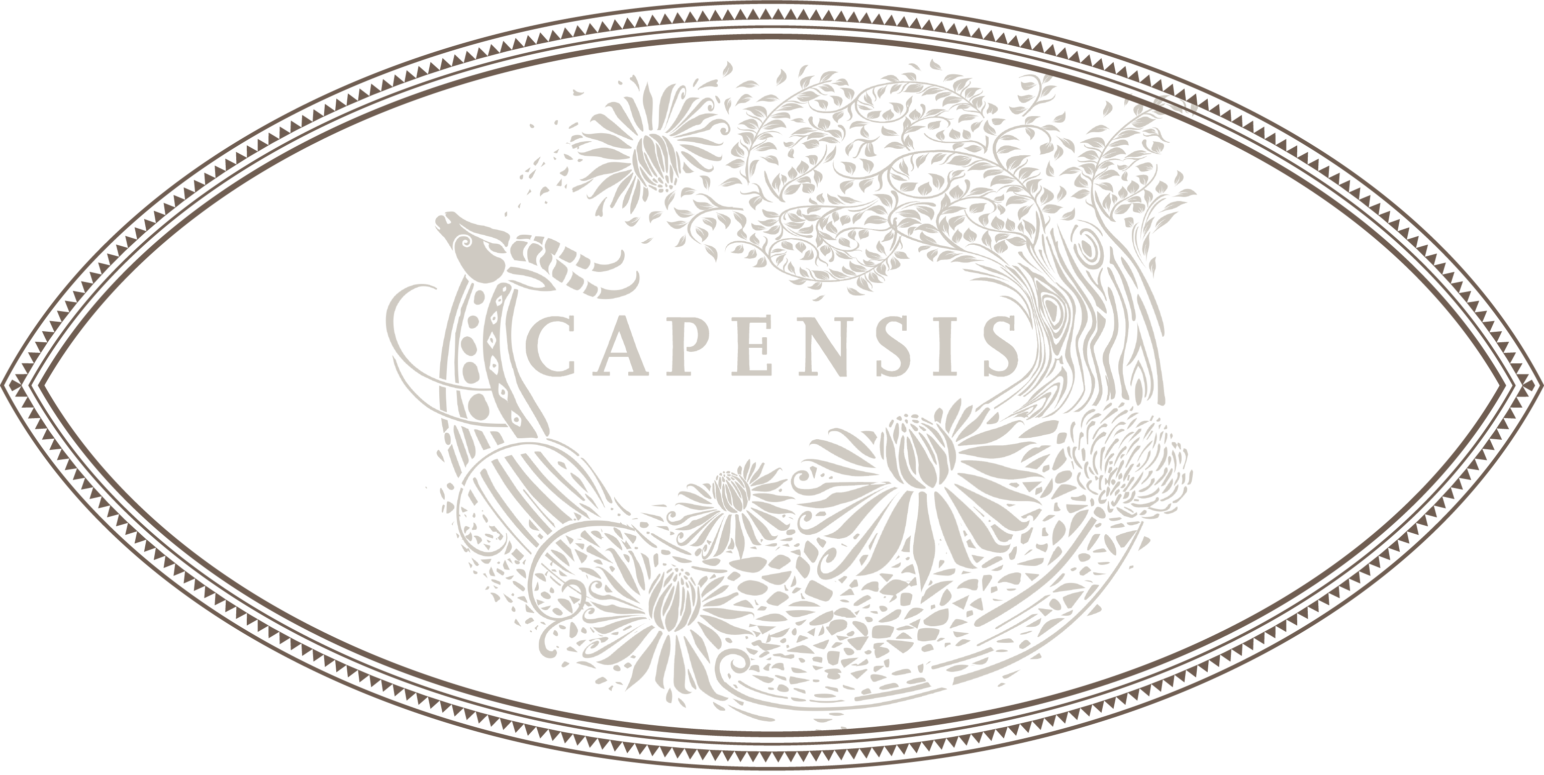 Capensis label with Zulu Shield ighlighted